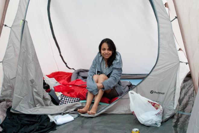 Me- Inside Intact Tent
