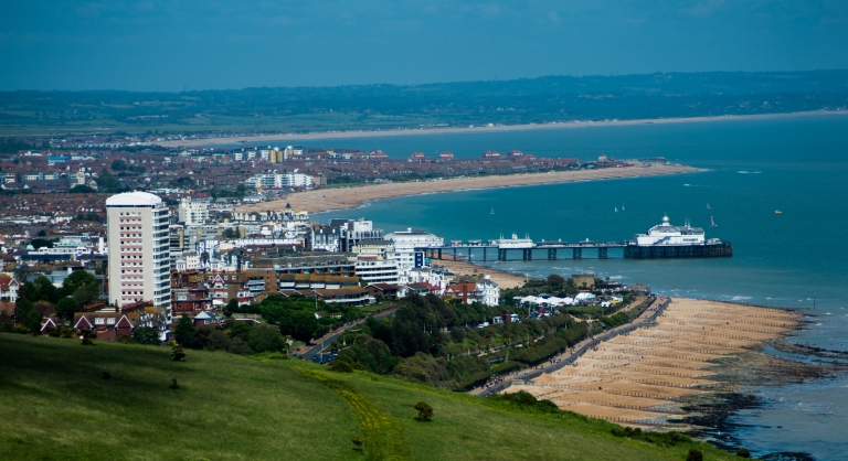 Eastbourne from Seven Sisters Clifftop