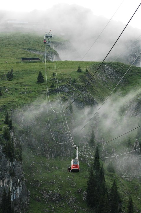 Gondola- It took us to the point of jump.