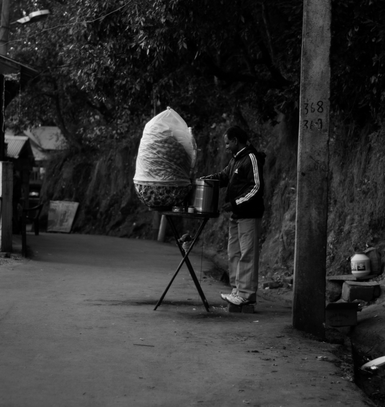 A street Vendor selling Paani Poori