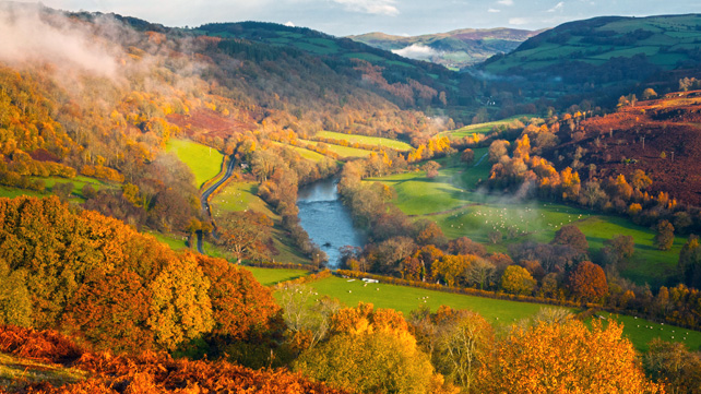 That's how Wye Valley looks with Autumn Colors.