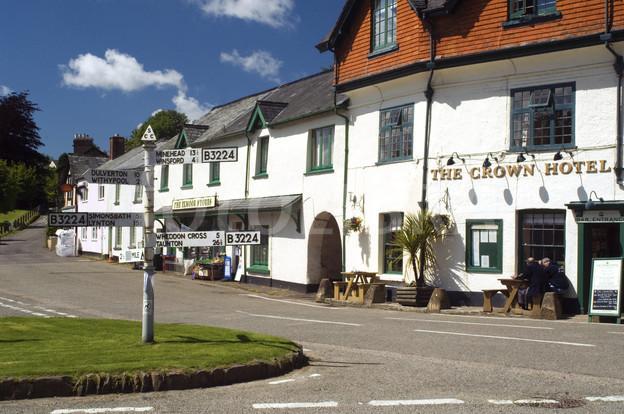 Exford Village Exmoor Somerset